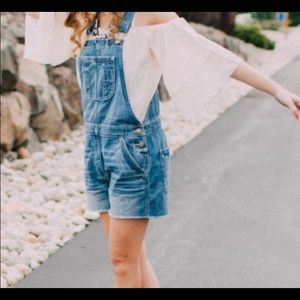 American Eagle Raw Hem Shortalls